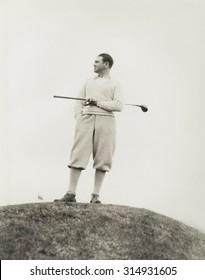 Lone golfer