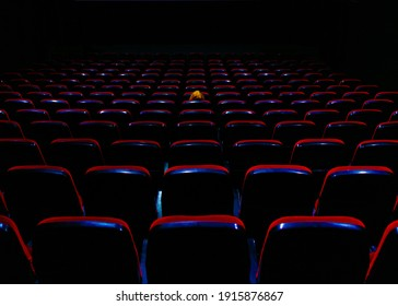 lone spectator in the cinema hall