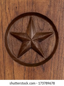 Lone Star engraved in wood