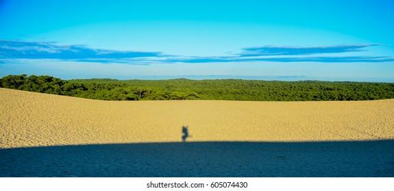 Lone traveler at Dune du Pilat. France