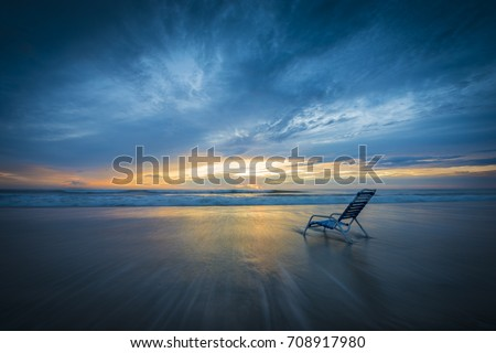 Remarkable Lone Vacation Beach Lounge Chair Surf Stock Photo Edit Now Unemploymentrelief Wooden Chair Designs For Living Room Unemploymentrelieforg