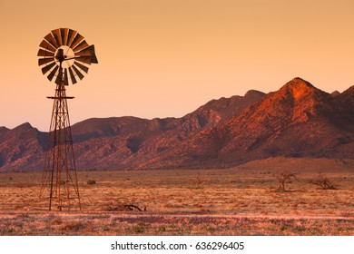 Lone Windmill in the Flinders Ranges