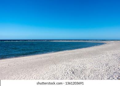 Lonely beach at the Baltic Sea near Kiel, Germany