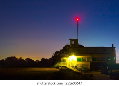 Lonely Building At Night