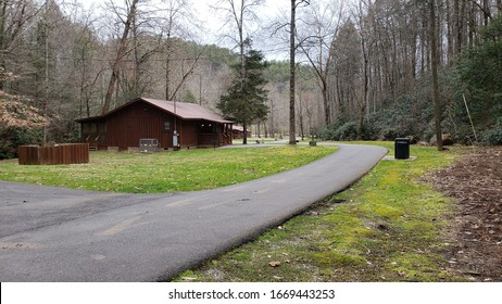 Lonely Cabin on Rural Mountain Road