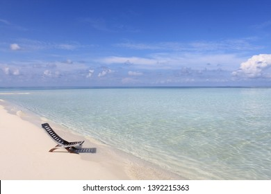 Lonely chair at Sun Island, Maldives