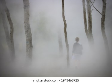 lonely child lost in a strange haze