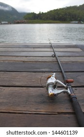 Lonely fishing on vacation