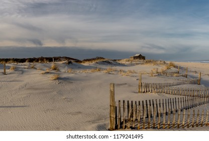 Lonely fishing shack along the Jersey Shore