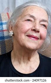 Lonely grandmother portrait