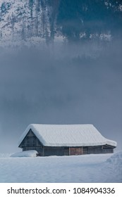 A lonely house in the valley. Gosau. Austria.