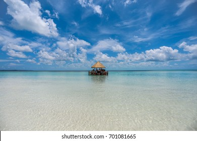 A Lonely Hut on the Ocean in the Bahamas