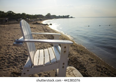 lonely lifeguard chair