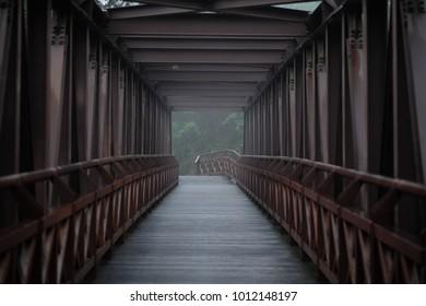 Lonely metal bridge