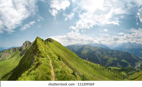 Lonely Mountain trail on the ridge