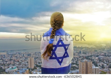 Lonely patriot jewish girl