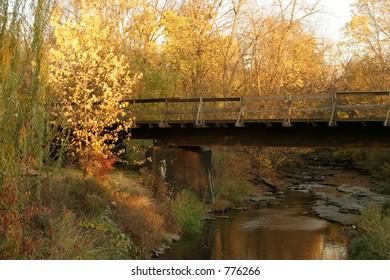 Lonely rail bridge in North Central Illinois