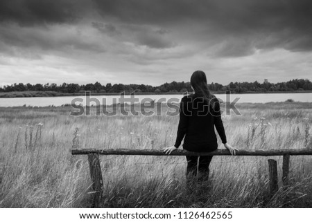 Lonely And Depressed >> Lonely Sad Depressed Young Woman Sitting Stock Photo Edit Now