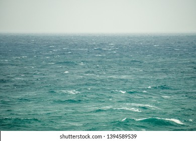 Lonely sea on a windy day
