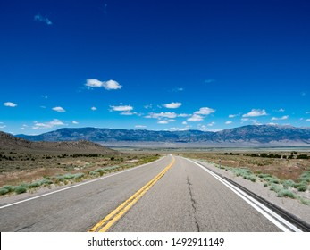 Lonely stretch of road between Ely, Nevada and West Wendover, Nevada on US Route 93