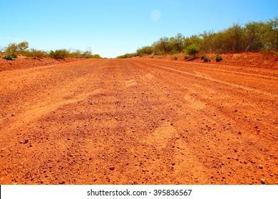 Lonely track in Australian bush