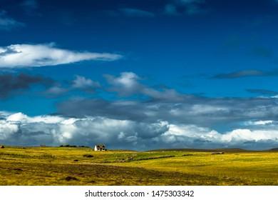 Lonesome Farmhouse At The Village Brae Of Achnahaird Near Achnahaird Beach in Scotland