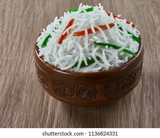 Long Basmati Rice With Capsicum and Carrot