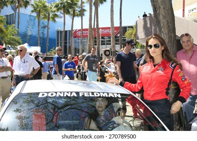 LONG BEACH - APR 18: Donna Feldman at the Toyota Grand Prix Of Long Beach Pro/Celebrity Race - Race Day on April 18, 2015 in Long Beach, California