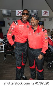 LONG BEACH - APR 18: Willie Gault, Alfonso Ribeiro at the Toyota Grand Prix Of Long Beach Pro/Celebrity Race - Race Day on April 18, 2015 in Long Beach, California