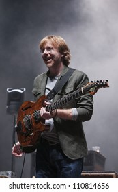 LONG BEACH, CA - AUG 15: Trey Anastasio of Phish performs at the Long Beach Arena on August 15, 2012 in Long Beach, California.