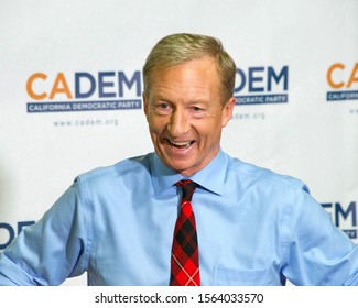 Long Beach, CA - Nov 16, 2019: Presidential candidate Tom Steyer speaking at the Democratic Party Endorsing Convention in Long Beach, CA