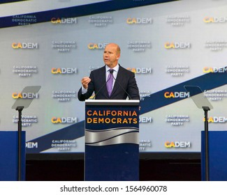 Long Beach, CA - Nov 16, 2019: Presidential candidate John Delaney speaking at the Democratic Party Endorsing Convention in Long Beach, CA