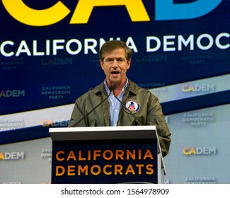 Long Beach, CA - Nov 16, 2019: Presidential candidate Joe Sestak speaking at the Democratic Party Endorsing Convention in Long Beach, CA