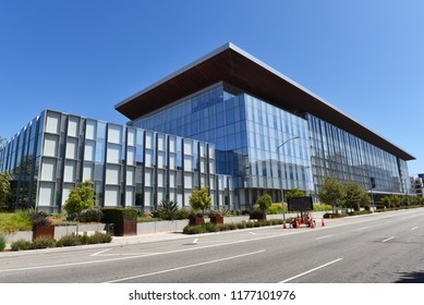LONG BEACH, CALIF - SEPT 10, 2018: The Governor George Deukmejian Courthouse belongs to the South Judicial District of Los Angeles.