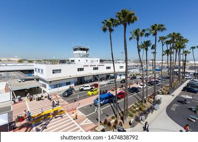 Long Beach, California – April 13, 2019: Terminal of Long Beach airport (LGB) in the United States.