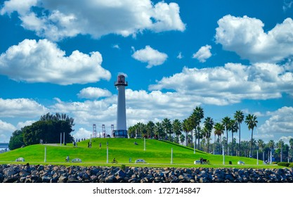 LONG BEACH, CALIFORNIA - November 1, 2019: Long Beach is known for its waterfront attractions, including the Queen Mary. Multiple sports will be held in Long Beach during the 2028 Summer Olympics.