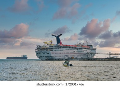 LONG BEACH, CALIFORNIA - November 10, 2019: Carnival Cruise Lines began as an independent cruise ship line in 1972 and now owns the largest fleet in the world sailing under nine companies