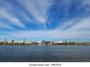 Long Beach, California Skyline in January
