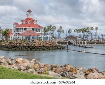 Long Beach, California, USA, February 27, 2017: ShoreLine Aquatic Park