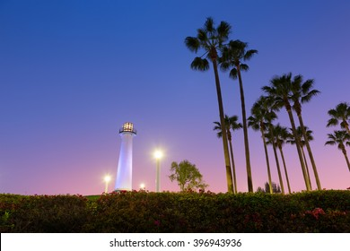 Long Beach, California, USA Harbor Lighthouse.