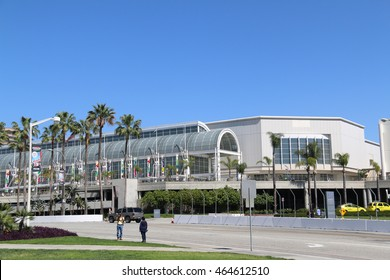 Long Beach, California, USA - March 16, 2016: The Long Beach Convention and Entertainment Center is a convention center composing of Convention Center, Arena, and Performing Arts Center.