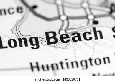 Long Beach. California. USA on a map