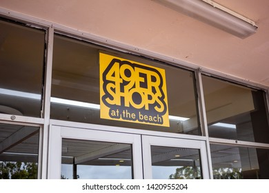 Long Beach, California/United States - 05/23/2019: The 49ers Shops cafeteria sign at California State University Long Beach