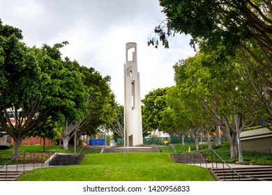 Long Beach, California/United States - 05/23/2019: The Carlson Bloc Bell Tower at California State University Long Beach