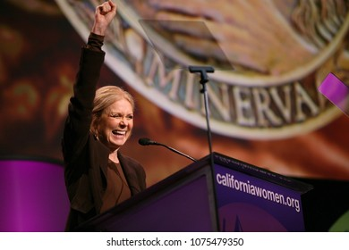 Long Beach, California/USA -Oct 22, 2008: Feminist Gloria Steinem receives a Minerva award during the California Women's Conference 2008 in Long Beach, California.