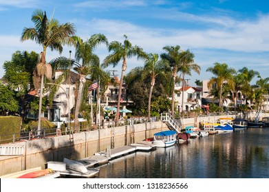 Long Beach canals in Los Angeles, California
