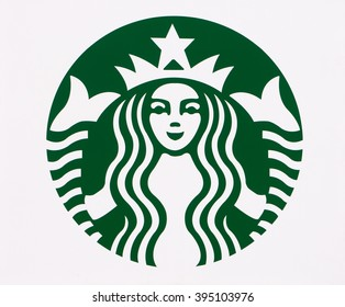 LONG BEACH, CA/USA - MARCH 19, 2016: Starbucks exterior logo. Starbucks is a chain of coffee shops in the United States and other nations.
