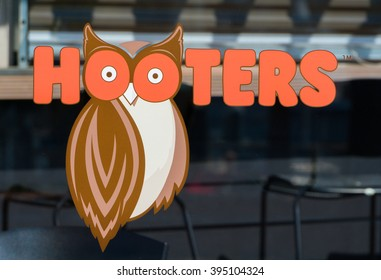 LONG BEACH, CA/USA - MARCH 19, 2016: Hooters exterior and logo. Hooters is a casual dining restaurant chain in the United States.