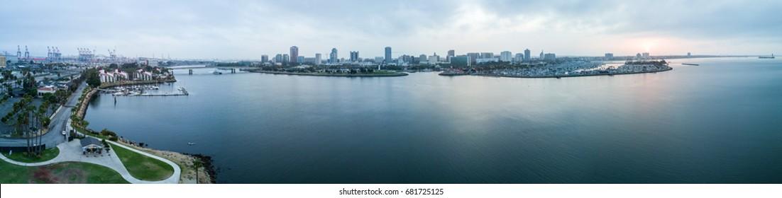 Long Beach Drone View