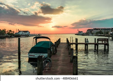 Long Beach Island, NJ. USA - JULY 23, 2016. Peaceful life in Little Egg Harbor, New Jersey were repaired after Hurricane Sandy in 2012